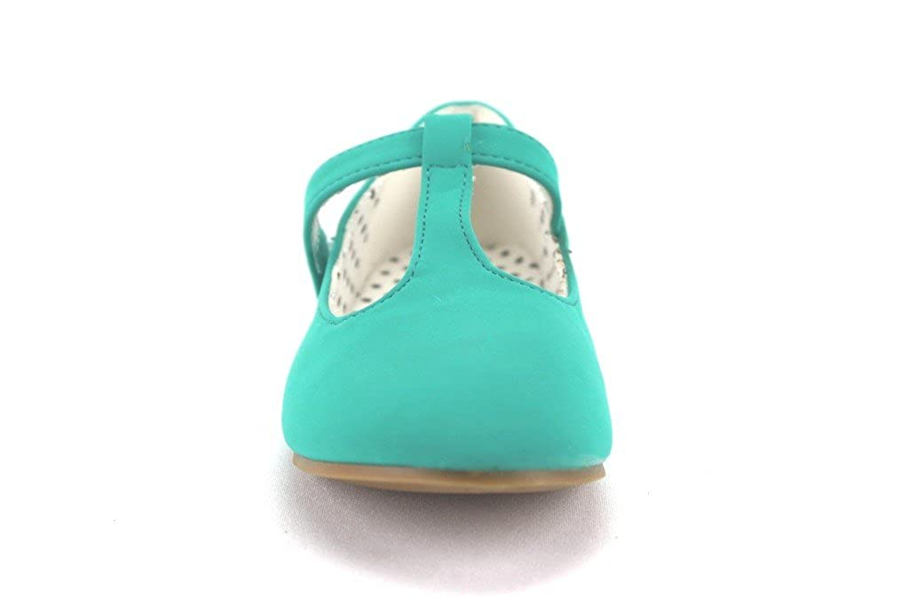 Ositos QQ Girls Kids Lovely-604 Smoking T-Strap Mary Jane Flats Shoes