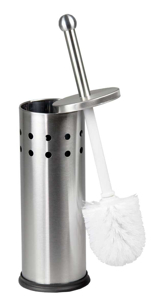 Home Basics Vented Stainless Steel Toilet Brush Holder TB01806