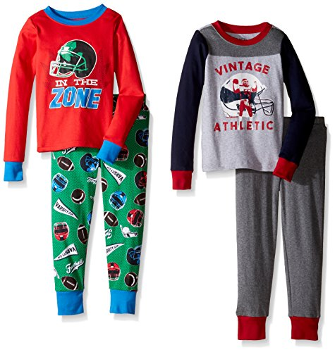 The Children's Place Big Boys' Top and Pants Pajama Set 2, Sports 77114 (Pack of 2), 8 -