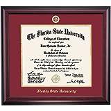 Florida State Seminoles Diploma Frame Garnet Gold Matting Embossed Seal
