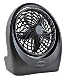 O2COOL Portable 5 Inch 2-Speed Directional Airflow 4 D Battery and AC Powered Table Fan (adapter not included)