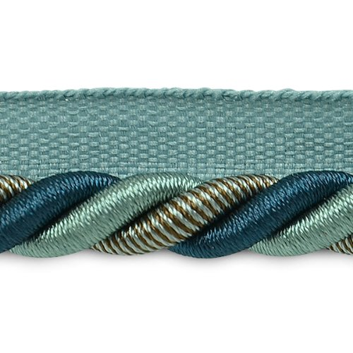 Trim Lip Twisted 3/8 Cord (Expo International 20-Yard Leona Twisted Lip Cord Trim Embellishment, 3/8-Inch, Denim)