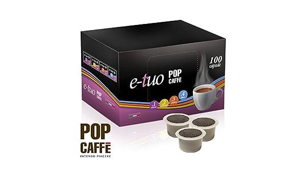 100 Cápsulas Pop Caffè e-tuo mezcla 2 cremoso COMPATIBLES Mitaca MPS, Fior fiore y Lui Espresso: Amazon.es: Hogar
