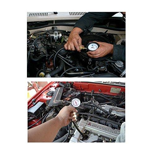 Jecr Cylinder Pressure Tester - 0~300 Psi Cylinder Pressure Tester G324 - Gasoline Engine Compression Gauge Kit for Cars, SUVs, RVs, Bikes and ATV, by by Jecr (Image #3)