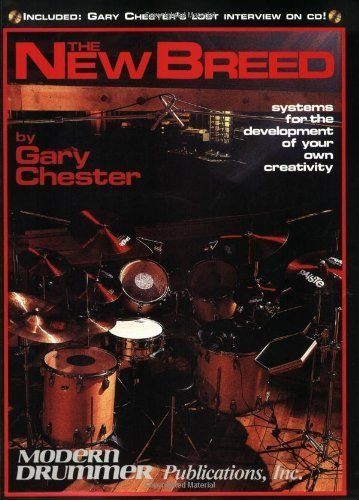 """Picture of the cover of the drum book """"The New Breed with CD"""" by Gary Chester and Chris Adams"""