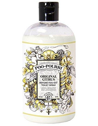 Poo-Pourri Before-You-Go Toilet Spray 16-Ounce Refill Bottle, Original + Free Poo-Pourri Before-You-Go Toilet Spray 4ml Travel Size Disposable Spritzer by Poo-Pourri