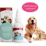 Antimicrobial Ophthalmic Pet Dog Cat Eye Drops Wash Cleaner, Removes Debris, Cleans Eyes,Relieves Eye Redness and Irritation from Allergies,Prevents Infection Conjunctivitis - (50 ml/1.7OZ)