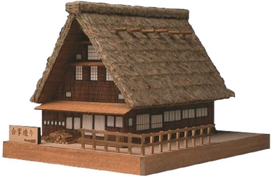 ウッディジョー ミニ建築 No.1 合掌造り 木製模型