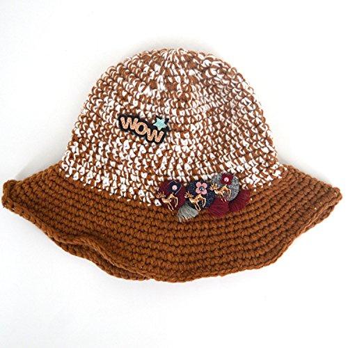 Beanie de Sombrero Pecho de invierno de ancho Marr Aisi punto Capeline mujer aaxCzp