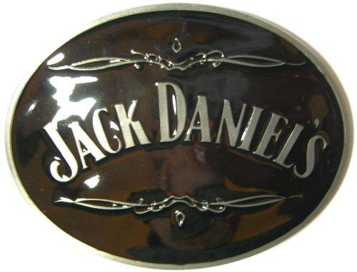 Jack Daniel's OVAL Offiziell Lizenzierte Gürtelschnalle + Präsentierständer