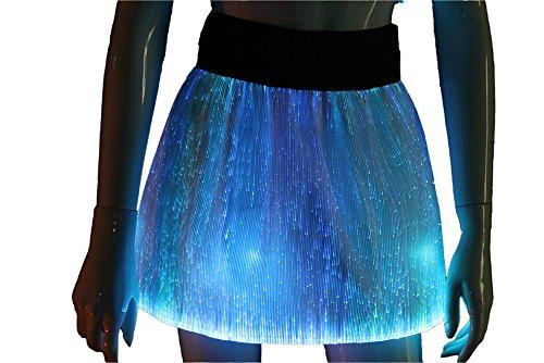 Light Up Fashion Skirts Glow In The Dark Sexy Skirts Luminous Fiber Optic Club Mini Skirts - Optic Club