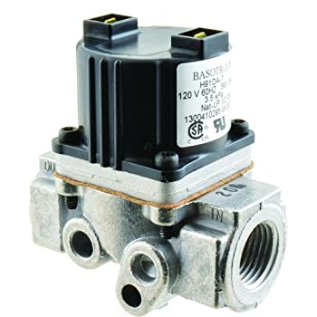 "BASO GAS PRODUCTS LLC Gas Solenoid Valve 120V, 1/2"" NPT inlet and outlet H91DA7C"