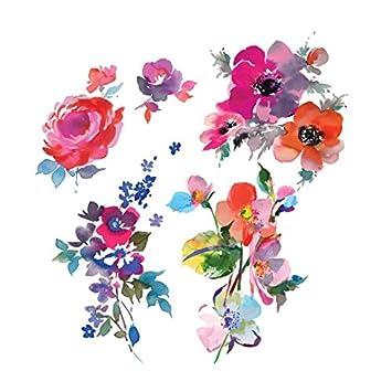 34e5675f5 Amazon.com : Tattly Temporary Tattoos Watercolor Florals Sheets : Beauty