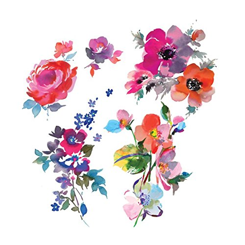 (Tattly Temporary Tattoos Watercolor Florals Sheets)