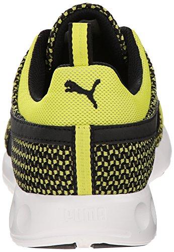Puma Mens Carson Coureur Tricot Lacets De Mode Sneaker Soufre Printemps / Noir