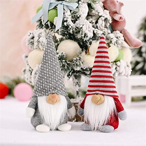 Sugely Dwarf Old Man Rudolph Doll, Spherical Pointed Hat Faceless, Christmas Decoration Supplies, Xmas Tree Ornaments for Party, Garden, for Kids