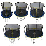 Zero Gravity Ultima 4 High Spec Trampoline with Safety Enclosure Netting and Ladder 6FT by Zero Gravity Trampolines