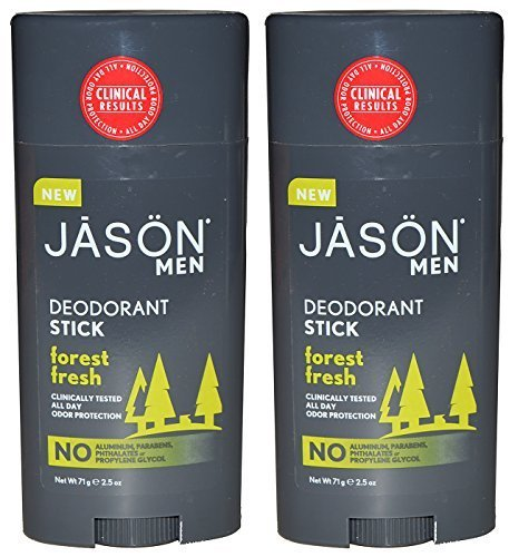 Jason Natural Products Men's Deodorant Stick Forest Fresh Pack of - Jason Thin Natural