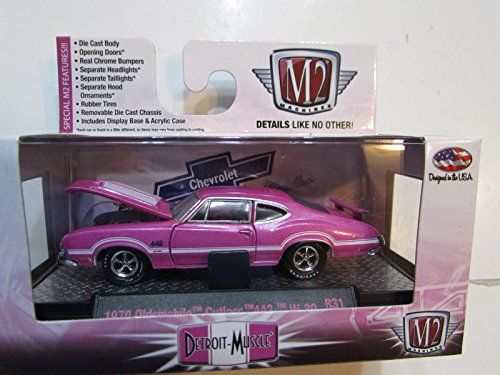 M2 MACHINES DETROIT-MUSCLE PINK SERIES 1970 OLDSMOBILE CUTLASS 442 W-30