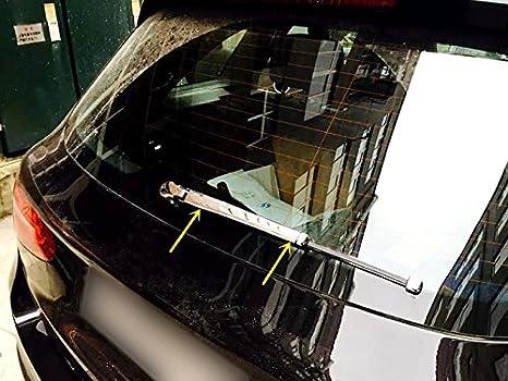 ABS de plástico Puerta Trasera para maletero Limpiaparabrisas tapajuntas Styling listones 4 unidades para GLC X 253 2015 - 2017: Amazon.es: Coche y moto