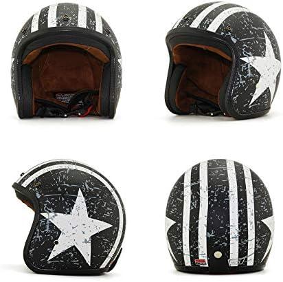Red+White, S Mangen Open Face Motorcycle Vespa Helmet Pilot Scooter Motorcycle Motorbike Jet Retro