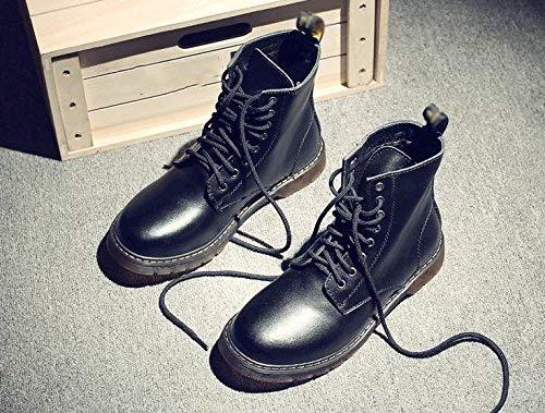 Martin 46 Suave Fuxitoggo Alta Zapatos Encaje Hombres De Botas Tamaño Cuero Los Gama color Cómodo gdzq7