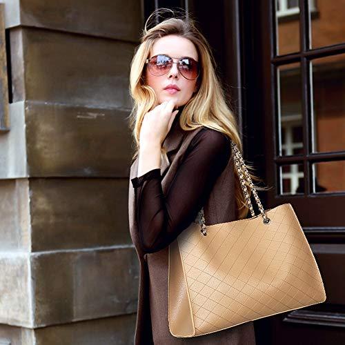 Onzama Designer Con Tracolla In Pelle Grande Manico 2 Mano Donna Pezzi Borsa Marrone Handbag A q7UtUXW