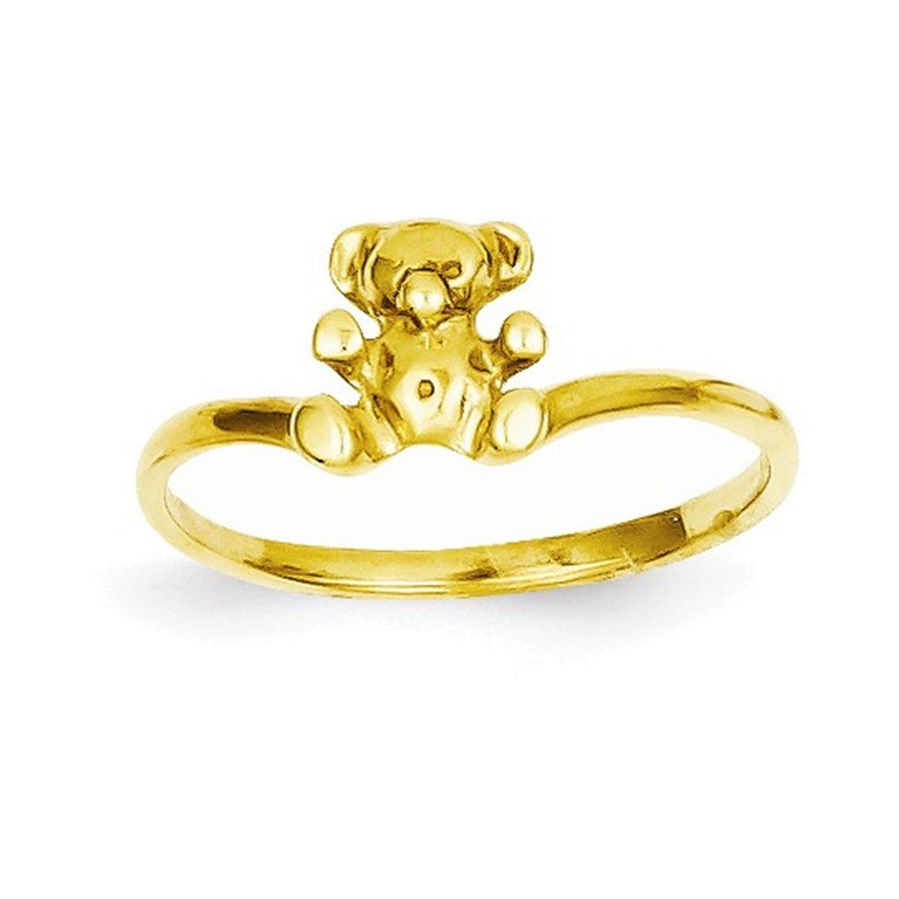 14k Childs Polished Teddy Bear Ring