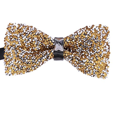 (Men Novelty Yellow Silver Boys Child Kids Bow ties Pre Tied Wedding Party Bowtie)