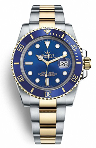 Luxury Swiss REP V9 Crown Submersible Gold Two Tone 904L Stainless Steel Cal.3135 Movement Blue Dial Ceramic Bezel 116610ln
