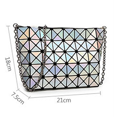 Bag Chain Treasureblue Women's Orange Package Ladies Folding Geometric Handbag MYLL Shoulder 87Yq7