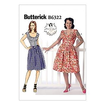 Butterick Schnittmuster 6322 Gerüscht Korsett Stil Kleid: Patterns ...