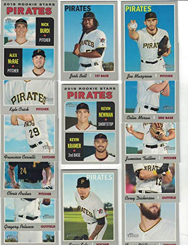 Pittsburgh Pirates/Complete 2019 Topps Heritage Baseball Team Set! (14 Cards) Includes 25 Bonus Pirates Cards!