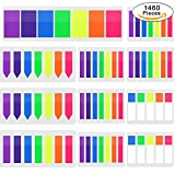 neon chart markers - AUSTOR 1460 PCS Flags Index Tabs 5 Sizes Colored Neon Sticky Notes Page Marker for Marking and Highlighting, 7 Colors, 11 Sets