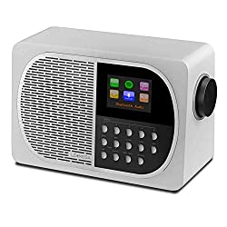 LEMEGA M2+ 7W Portable Internet FM Digital Radio with Wi-Fi, Bluetooth, USB, Aux & TFT Colour Display -White Satin