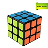 Rubiks Cube 3x3x3 Layer Rubix Magic Puzzle Speed Cube Brain Teaser Durable Smooth Twisty Proffessional Classic Colorful Portable For Adults International Competition Instruction Education (Rubiks Cube, Black)
