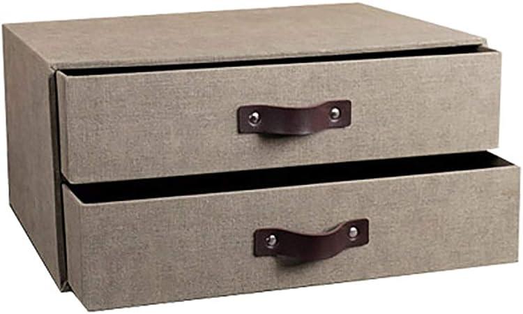Carpetas Caja de almacenamiento de oficina de madera tipo cajón de escritorio a4 titular de archivo estantería europea pequeña caja de almacenamiento de acabado (26cm * 17.2cm * 34.5cm) caja de archiv: