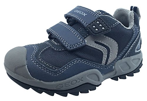 Geox Boy's Savage Hook and Loop Sneaker (Navy/Grey, 34 M EU/3 M US Little Kid)