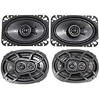 2) KICKER 43CSC6934 6x9 900w Car Audio Speakers+2) 43CSC464 4x6 300w Speakers