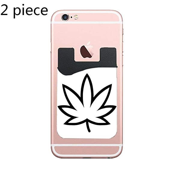 super popular 494b4 e8c9c Amazon.com: Cusomcardphone Cardly (Two) Cell Phone Stick on Wallet ...