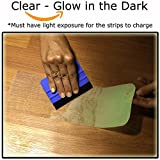 """StepTips Anti Slip Tape Stair Treads Clear & Glow in The Dark for Safety Non Slip Grip 15 Pack 4"""" x 24"""" Pre Cut Skid Strips Traction Non Abrasive PVC Free for Bare Feet Kids, Elders & Dogs"""