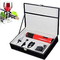 Party Electric Wine Opener Abrebotellas rápido Set de regalo de sacacorchos eléctrico profesional recargable de acero inoxidable con cortador de aluminio
