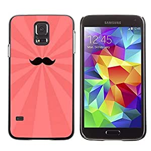 Colorful Printed Hard Protective Back Case Cover Shell Skin for Samsung Galaxy S5 V SM-G900 ( Cool Moustache ) Kimberly Kurzendoerfer