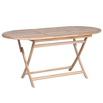 Table De Jardin Amazon.Vidaxl Bois De Teck Massif Table Salle A Manger Patio Terrasse Table De Jardin