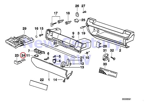 Price comparison product image BMW Genuine Glove Box Compression Spring 318i 318is 320i 323i 325i 325is 328i M3 M3 3.2