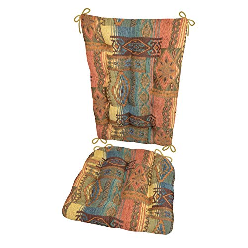 Southwest Sedona Rocking Chair Cushions - Size Extra-Large - Latex Foam Filled Seat Pad & Back Rest (Santa Fe/Presidential)