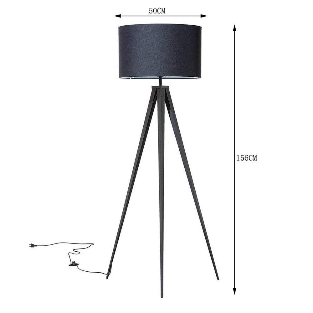 Halori Stehleuchten Stehlampe Schwarz Tripod Metall 156 Cm