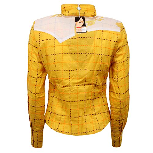 Custo Woman Shirt Camicia Fit Barcelona Slim Donna Giallo D6060 nW1nF