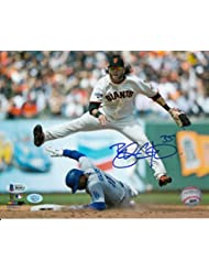 Brandon Crawford Autographed Home (Jump) 8x10 Photo SF Giants Beckett Authenticated