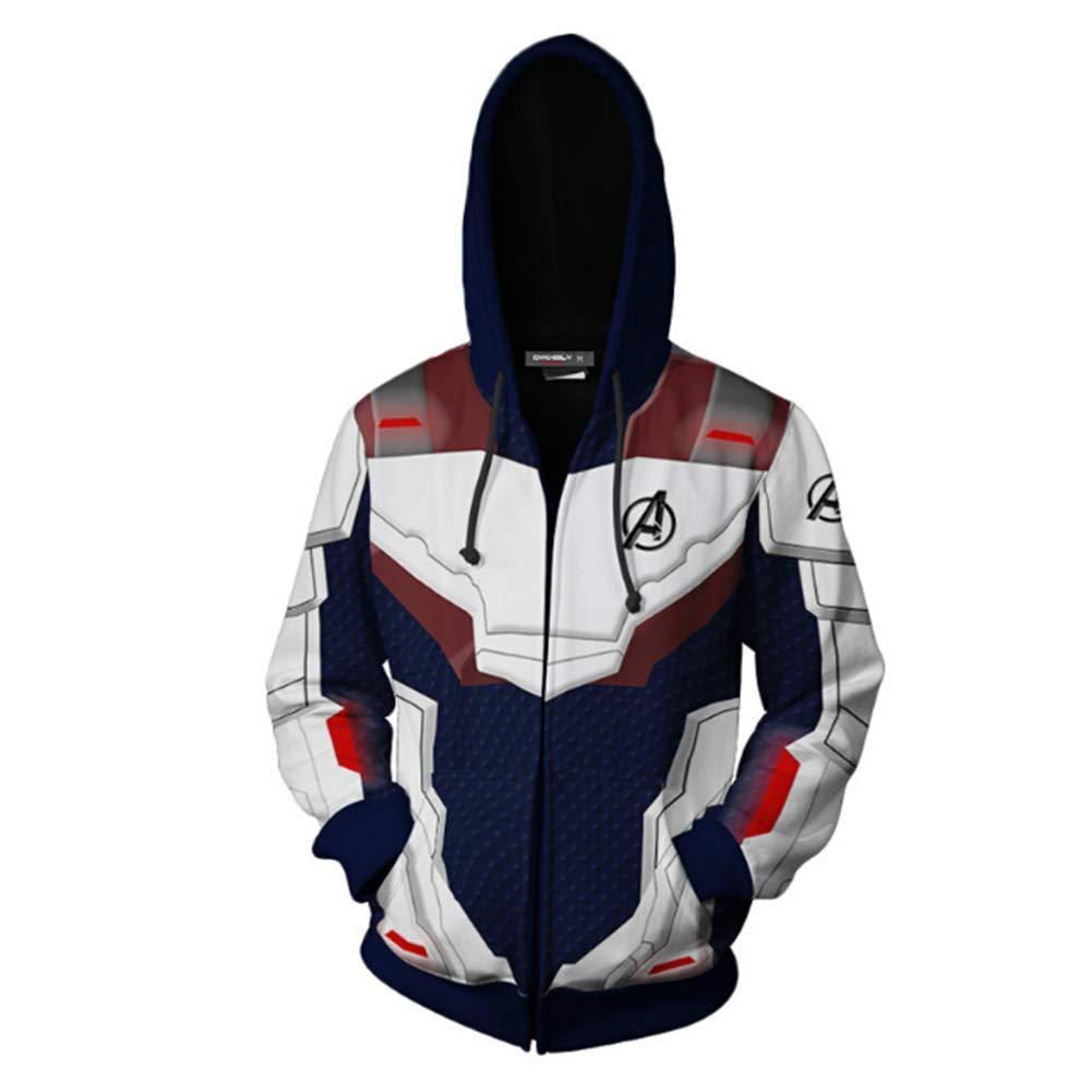 Avengers Endgame Quantum Realm Sweatshirt Jacket Advanced Tech Hoodie Cosplay AQP2